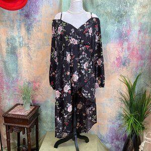 NWOT📌 Rosegal Cold Shoulder High Low Floral Dress
